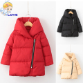 S-191 Fashion Winter Children Girls Boys Warm Thick Down Parkas Children Long Outerwear Hooded Jacket Coat Clothing for Kids