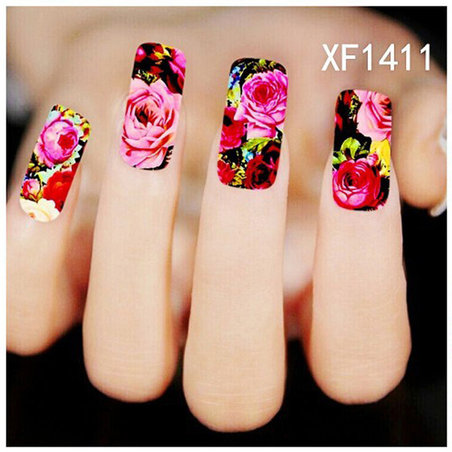 5pcs water nail art stickers pink red rose flowers nail design 5pcs water nail art stickers pink red rose flowers nail design stickers manicure tools cover nail prinsesfo Gallery