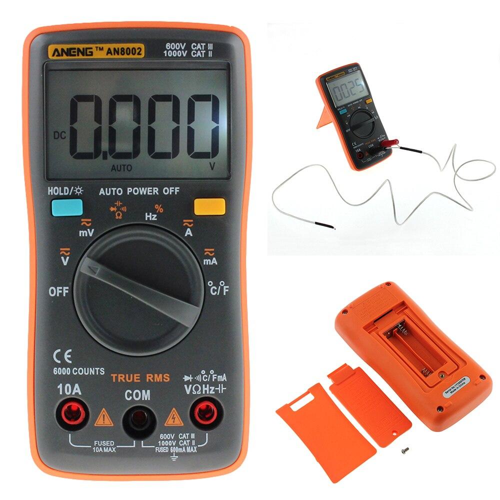 ANENG AN8002 Digital Multimeter 6000 Zählt Hintergrundbeleuchtung AC/DC Amperemeter Voltmeter Ohm Tragbaren Strom Tester Multi Meter