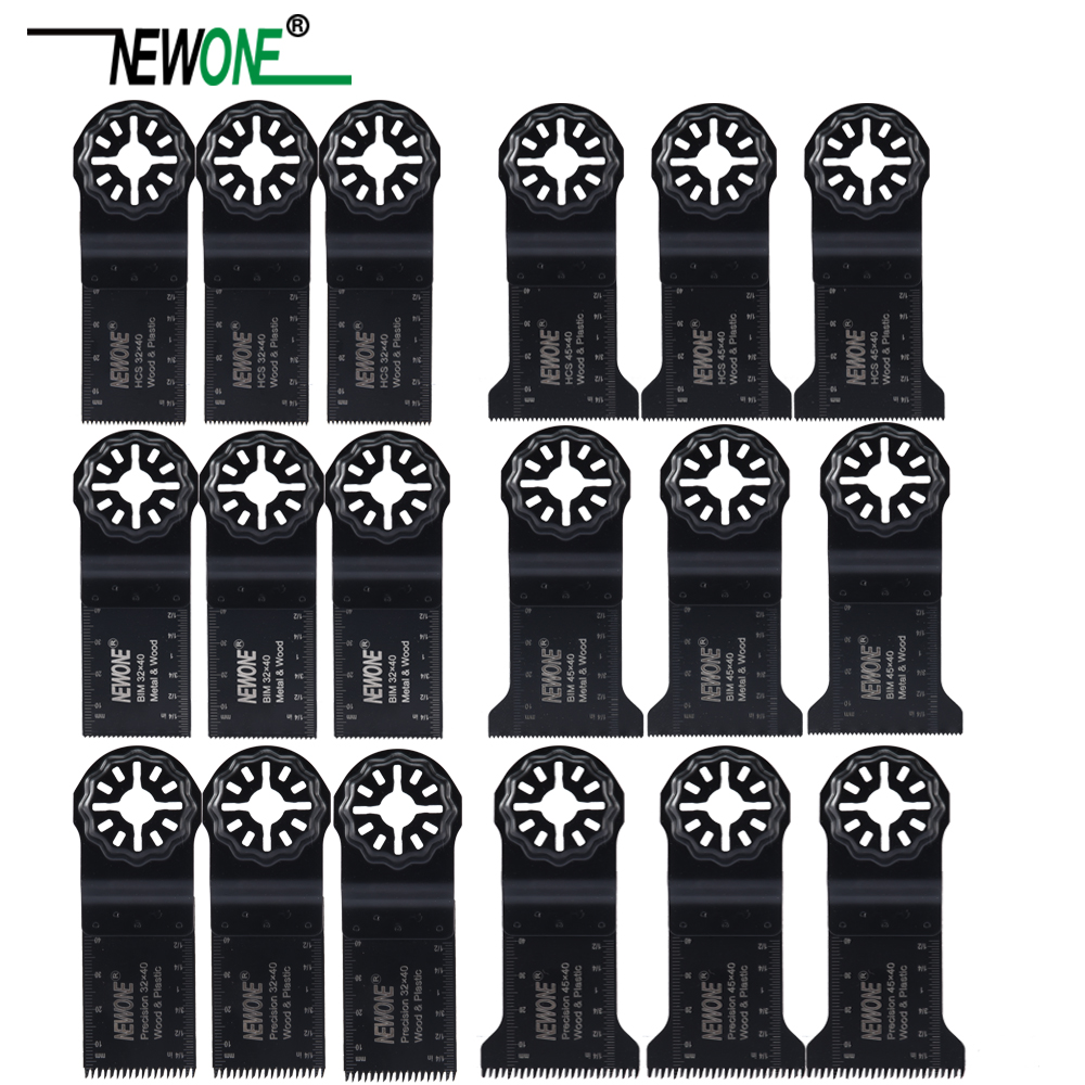 NEWONE Starlock 18pcs Oscillating Tool Saw Blades Set 32/45mm Blades Multi-tool Renovator Trimmer Saw Blade Cutting Wood Metal