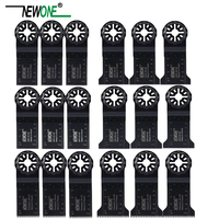 NEWONE Starlock 18pcs/set Saw Blades Set 32 and 45mm wide for Power Oscillating Tools to Cutting Wood Metal Plastic