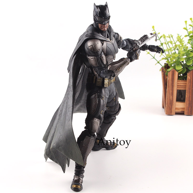 Play Arts Kai DC Comics Justice League Statue No.1 Batman Action Figure Tactical Suit Ver. PVC Collection Model Toys 25cm xinduplan dc comics play arts justice league movie batman bruce wayne movable action figure toys 27cm kids collection model 0271