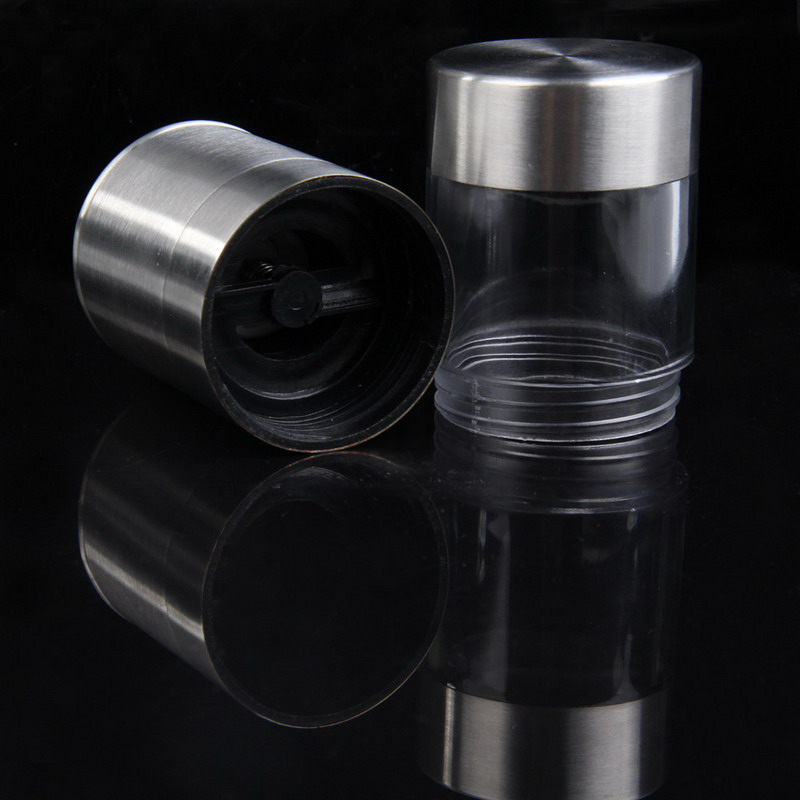 Image 4 - Manual Pepper Mill Salt Pepper Mill Grinder Portable Kitchen Mill Muller Home Kitchen Tool Spice Sauce Grinder Pepper Mill-in Mills from Home & Garden
