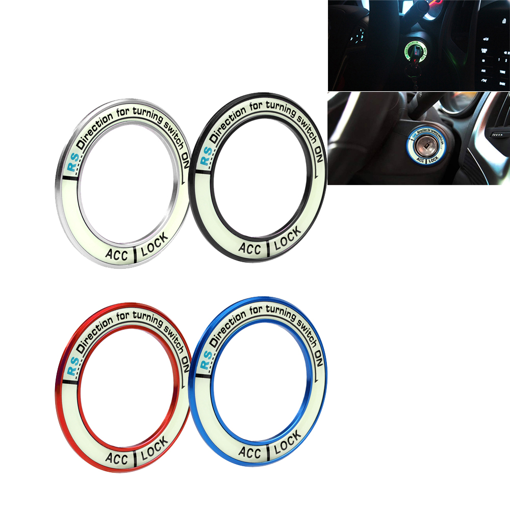 Luminous Alloy Car Ignition Switch Cover Auto