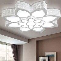 LED lotus flower shape ceiling lamp living room bedroom study lamp commercial office space Ceiling lights AC110 240V