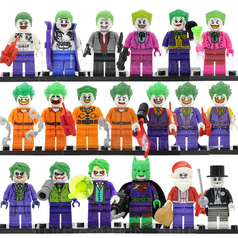 Single Sale Magician Joker Figure tailcoat prisoner Suicide Squad Batman DC Super hero Building Blocks Sets Models Toys D006 single sale dc super heroes batman batgirl fairy batman bathrope legoings joker rainbow building block figure toys child gift