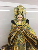 Handmade Collectible Chinese Ancient Wu Zetian Dolls Traditional BJD Doll With Joints Movable Girl Toys Gifts Souvenir