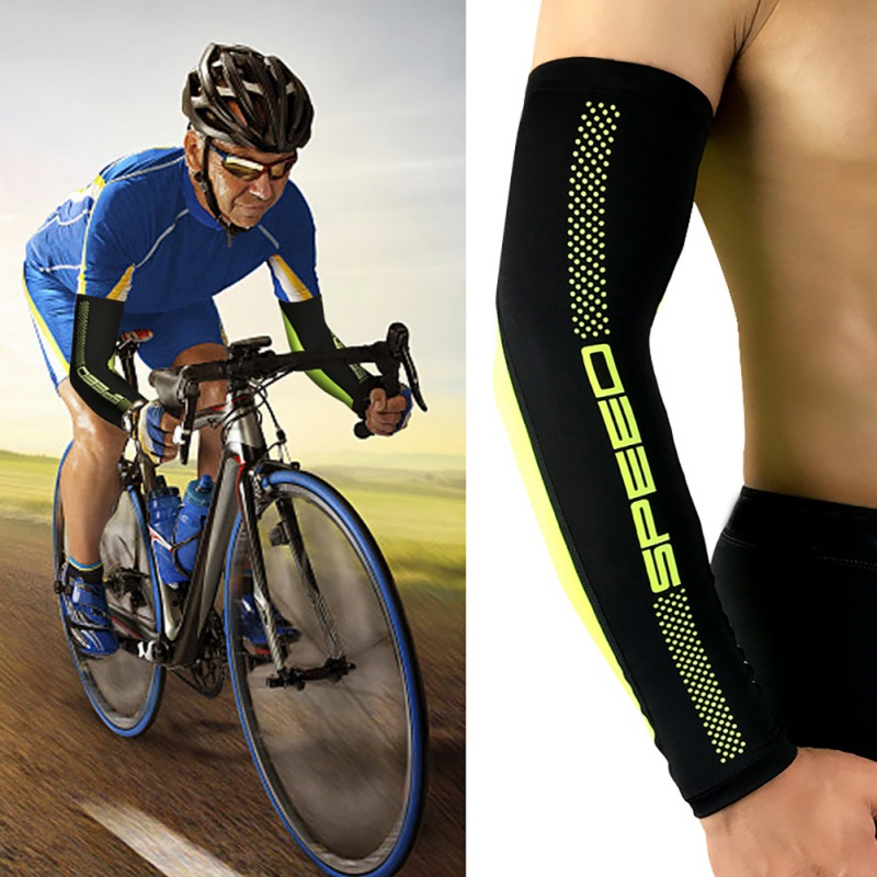 Lycra Ice Sleeve Arm Sleeve Cycling Running Bicycle UV Sun Protection Cuff Cover Ultraviolet Protective Men Women Sport Arm