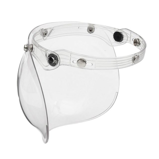 3 Complemento Burbuja Escudo Visera Máscara Para Open Face Casco de la Motocicleta de La Vendimia