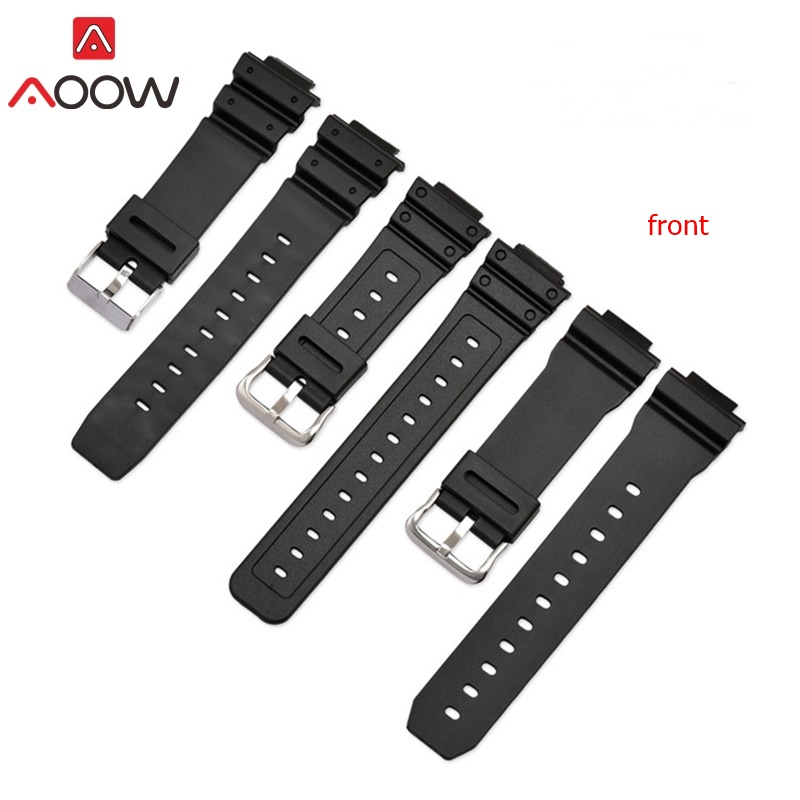 AOOW Generic Watchband For Casio G-shock Rubber Waterproof Sport Watch Strap Bands For Casio G-shock 9052 5600 6900 Series Belts