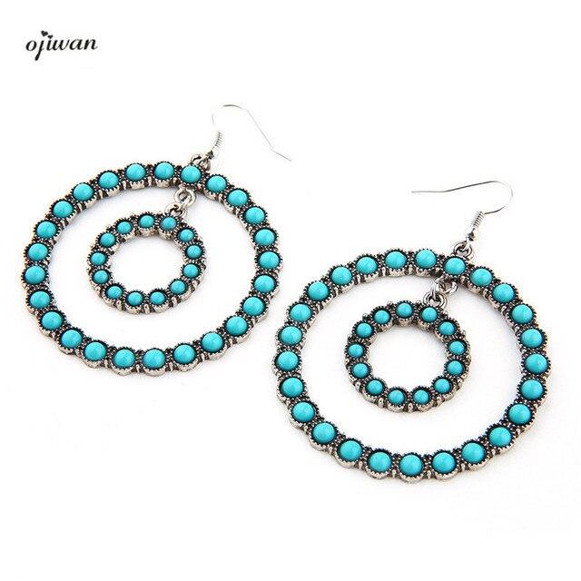 Boho Chic Earrings Hippie Gypsy Hoop Bohemian Aritos Indian Native American Jewelry Navajo Tribal