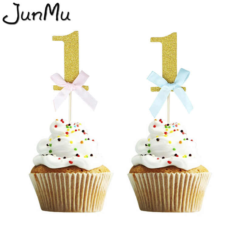 Admirable 10Pcs Set First Birthday Cake Cupcake Topper 1St Party Decorations Funny Birthday Cards Online Inifofree Goldxyz