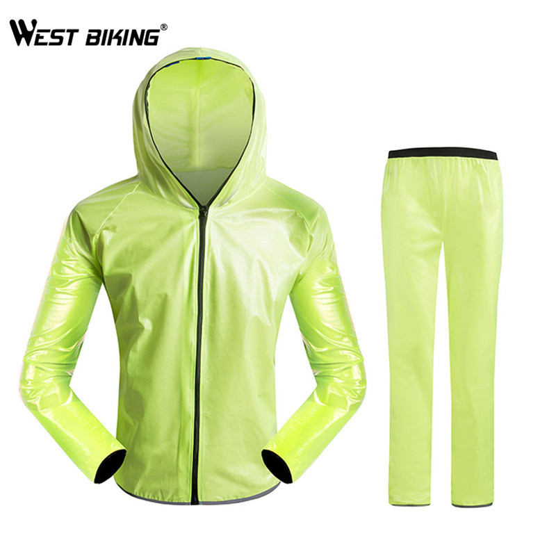 WEST BIKING Cycling Coat Raincoat Transparent Bicycle Jersey Dust Coat Bike Jacket Rain Coat Windbreaker Waterproof Clothing