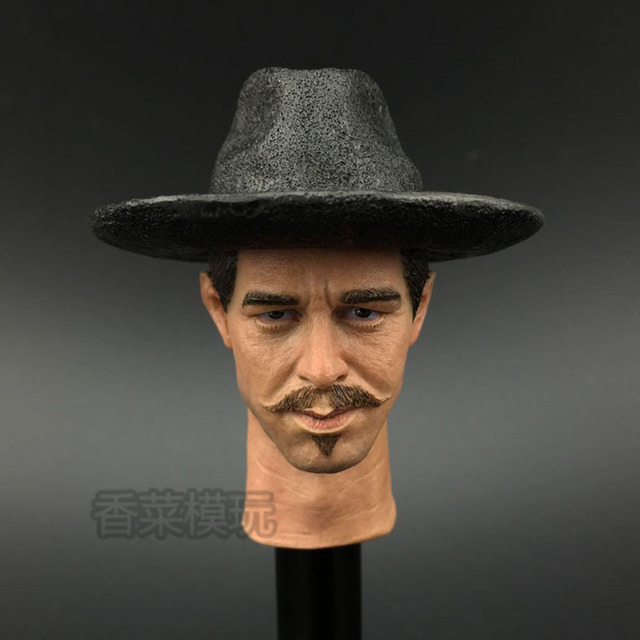 16 Tombstone Doc Holliday Head Sculpt Val Kilmer Headplay In Stock