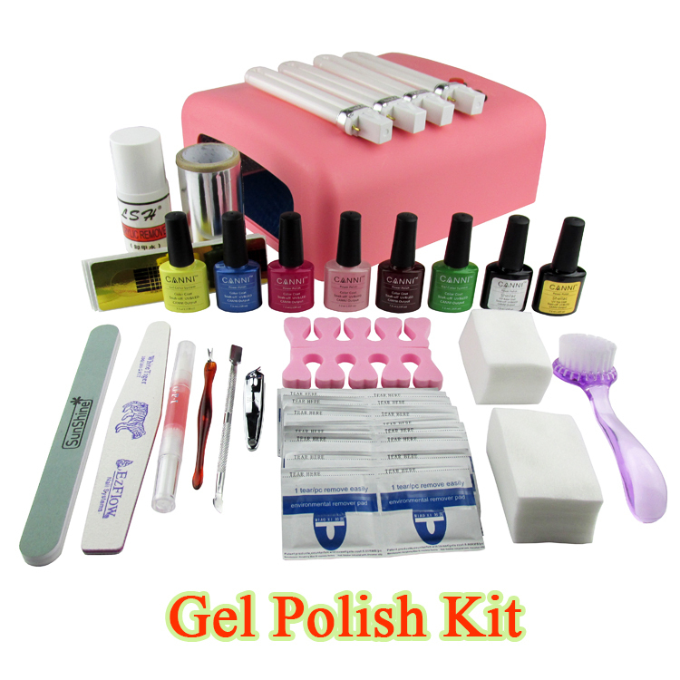 Gel Polish Set Soak Off Led Uv Gel Kit Uv 36w Curing Lamp