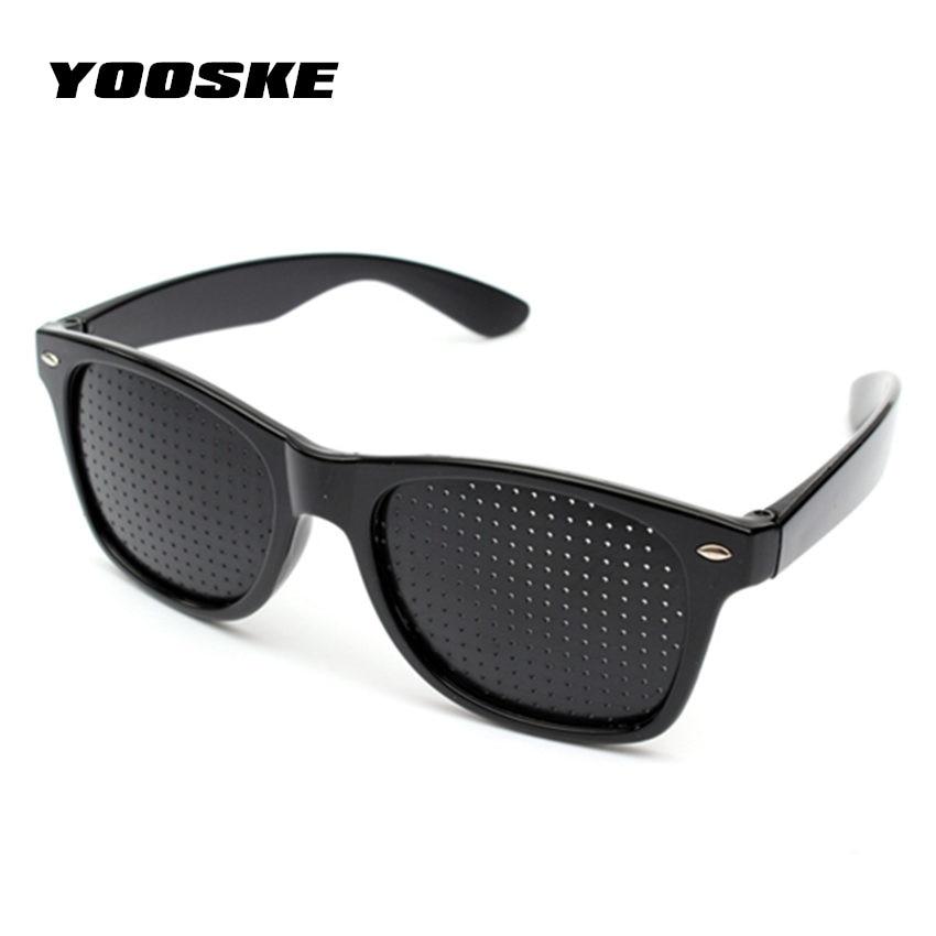 YOOSKE Anti-myopia Pinhole Glasses women men Pin hole Sunglasses Eye Exercise Eyesight Improve Natural Healing ision Care