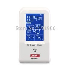 UNI-T UT338C 7 in 1 VOC formaldehyde detector PM2.5 air quality monitoring tester dust haze Temperature Humidity Moisture Meter voc tester for home type indoor offices bedrooms 0 50ppm air quality iaq meter detector temperature humidity air contaminants