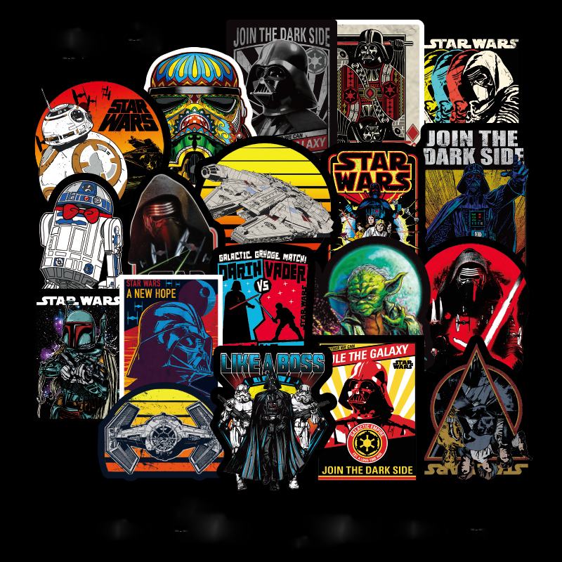 100pcs/pack Super Cool Star Wars Stickers for Luggage Laptop Decal Skateboard Stickers Moto Bicycle Car Guitar Fridge Sticker100pcs/pack Super Cool Star Wars Stickers for Luggage Laptop Decal Skateboard Stickers Moto Bicycle Car Guitar Fridge Sticker