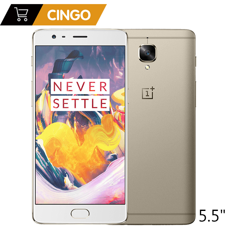 OnePlus 3 t 6 gb 64 gb Snapdragon 821 Quad-core 5.5 1080x1920 p 16.0MP D'empreintes Digitales ID OxygenOS Android LTE SmartPhone OnePlus3 T