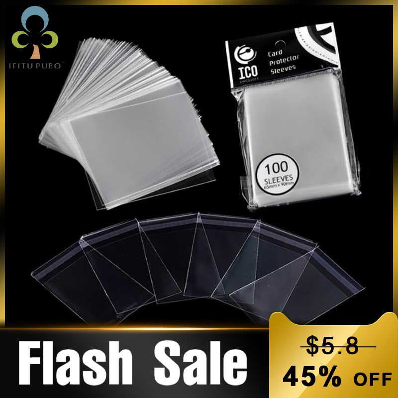 200pcs(2Packs) 65*90mm Card Sleeve Cards Protector Magic Killers of Three Kingdom Football Star Card Transparent Board Games GYH