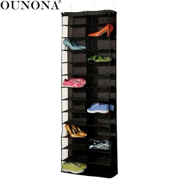 Ounona 26 Large Pocket Shoe Rack Storage Organizer Holder Hanger Shoes Closet Shelves Hanging