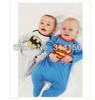 FREE SHIPPING Baby Boy Cute Model Romper Boy Superman One Piece Children Long Sleeves Bodysuit Infant