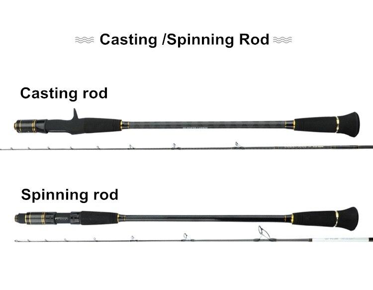 100-350g Ultra Light Spinnning Saltwater Fishing Fundição Rod