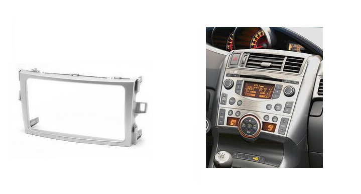 DOUBLE DIN Car Radio Fascia for TOYOTA Verso 2009+ Stereo Fascia Dash CD Trim Installation Kit car radio dvd cd fascia panel for faw oley 2012 stereo dash facia trim surround cd installation kit