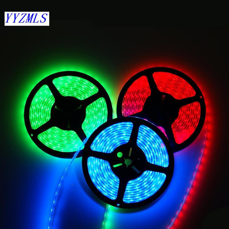 Hot LED Strip Light Waterproof SMD5050 60LED/m DC12V Led Flexible Tape 5m Cold White Warm White Yellow Red Green Blue RGB