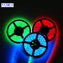 Hot LED Strip Light waterproof SMD5050 60LED/m DC12V led Flexible Tape 5m cold white Warm White Yellow Red Green Blue RGB(China)