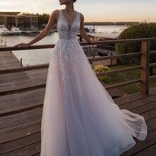 Loverxu, сексуальные, иллюзионные, v-образный вырез, кружевные, пляжные, свадебные платья,, Аппликации, расшитые бисером, на бретелях, с коротким шлейфом, винтажные, свадебные платья размера плюс
