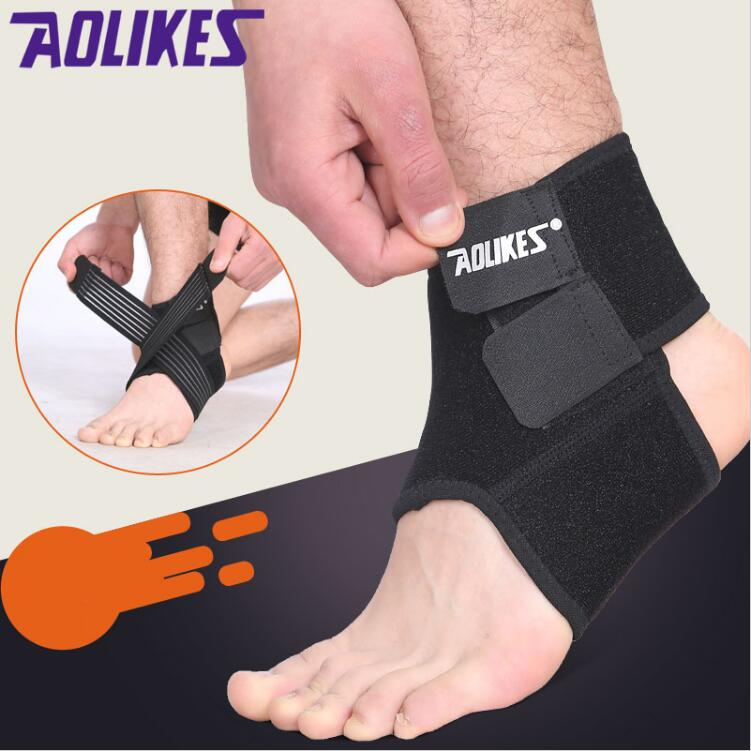 1pcs Unisex Sport Safety Ankle Support Gym Running Protection Foot Bandage Elastic Ankle Brace Band Guard Sport 8 Strong Packing Sports Accessories