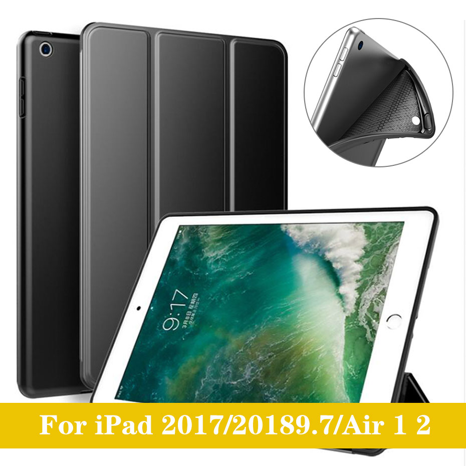 YWEWBJH For iPad Air 2018 9 7 Case Cover PU Leather Silicone Soft Back Case Auto Sleep Smart Cover for iPad Air 2 Cover Case in Tablets e Books Case from Computer Office