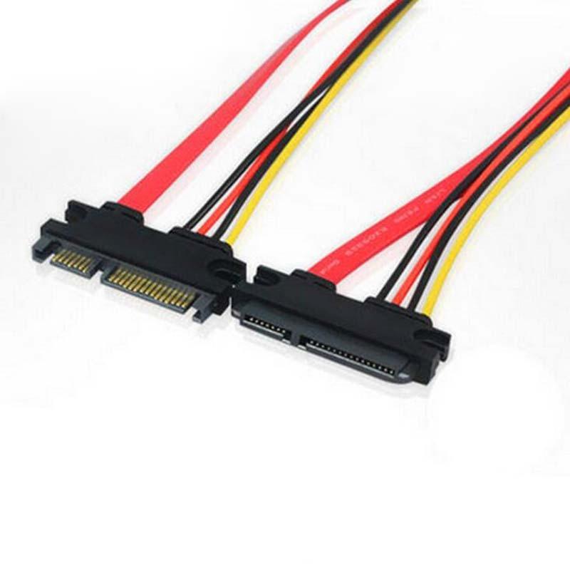 2шт 7 + 15-дюймовий роз'єм SATA подовжувача - Комп'ютерні кабелі та роз'єми