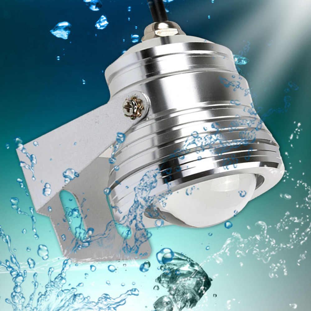 شحن مجاني 1 مجموعة في الهواء الطلق 10 واط RGB تحت الماء LED بقعة ضوء كشاف ضوء تغيير لون مصباح IP68 + 24 مفتاح تحكم للحديقة