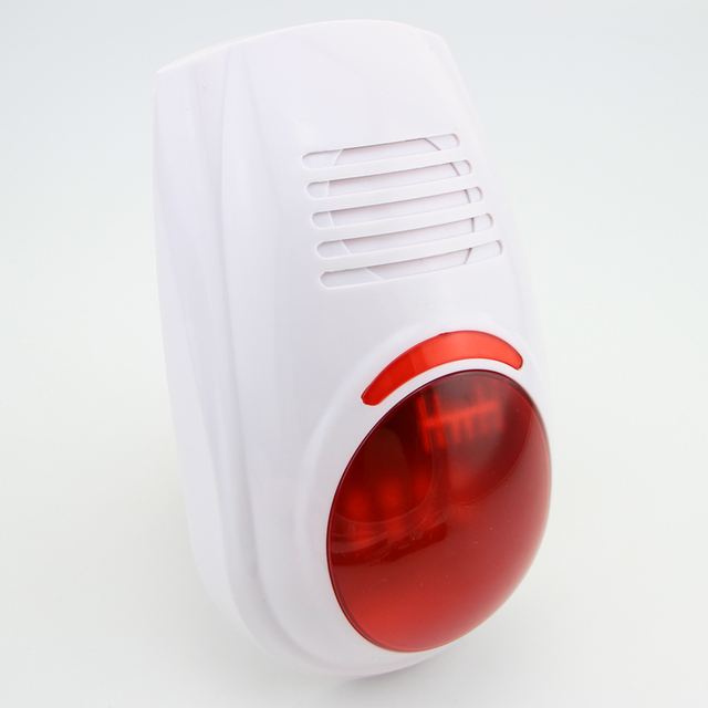 !Wireless Flash Strobe Outdoor waterproof Siren Red Light 100dB 315MHz Just For Our GSM PSTN security Alarm System