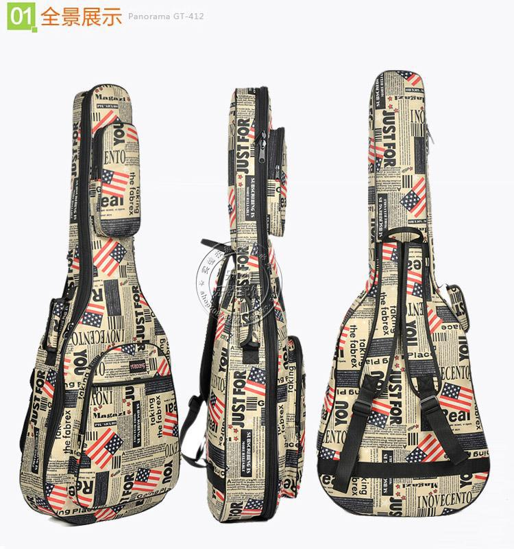 Oxford cloth newspaper acoustic guitar bag 4041 inch folk backpack set of waterproof thickening Case bag astraca deluxe brown black 40 41 acoustic guitar bag 600d nylon oxford guitar soft case gig bag 10mm thicken