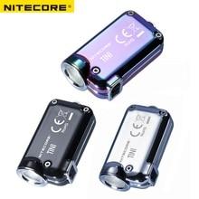 Nitecore TINI SS USB TINISS 충전식 스틸 LED 키 라이트 CREE XP G2 S3 LED 380 LM USB 충전식 리튬 이온 배터리 포함
