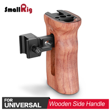 SmallRig QR Quick Release Camera Video Handle Grip Stabilizer Universal Wooden Nato Side with Cold Shoe Mount 2187
