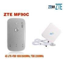 unlocked ZTE MF90c 100Mbps MiFi 4g lte wifi Router Support LTE FDD 1800/2600MHz TDD 2300MHz plus 4g 35dbi TS9 antenna