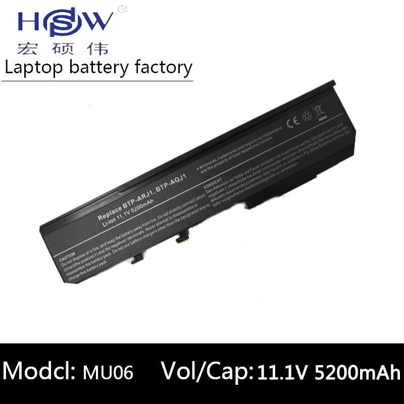A HSW 5200 mah Bateria Para Acer Aspire 2420 3620 5540 5590 2920 3640 3670 5560 BTP-ANJ1 2920Z BTP-AOJ1 BTP-APJ1 BTP-AQJ1 BTP-ARJ1