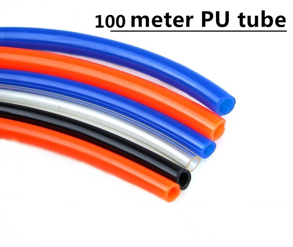 100 メートル高品質空気圧ホースの Pu チューブ外径 8 ミリメートル ID 5 ミリメートルプラスチックフレキシブルパイプ PU 8*5 8 × 5 ミリメートルポリウレタンチューブ配管  グループ上の 家のリフォーム からの 空気動力部品 の中 1