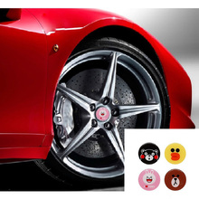 цена на Car modified hubble cap decoration adorable cartoon cute 3D three-dimensional stickers hub center cover car stickers car styling