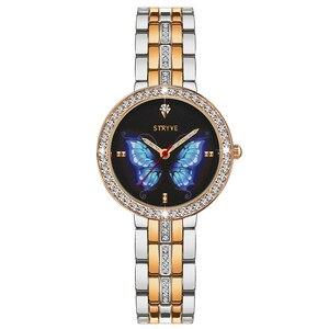 Image 3 - Stryve Neue Designer Damen Uhr Legierung Mode Schmetterling Kristall Zifferblatt Wasserdicht Quarz Luxus Frauen Uhren Mit Freies Armbänder