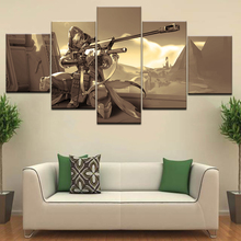 5 Panel Ana Amari Game Character Canvas Printed Painting For Living Room Wall Art Home HD Decor Picture Artworks Poster