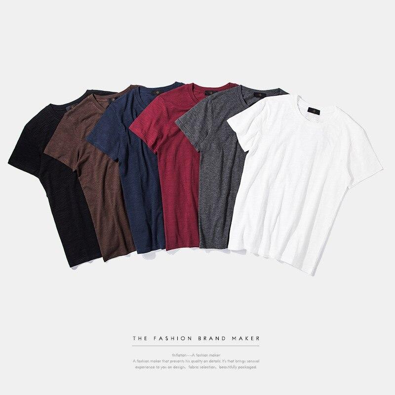 Paquete de inflación venta algodón orgánico de Color sólido camiseta Casual moda estilo Manga corta 0158S17