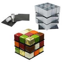 1Set Aluminum Alloy Cube Cake Mold Set DIY Dessert Mousse Chocolate Mould Cake Decorating Tool Pastry Baking Tools