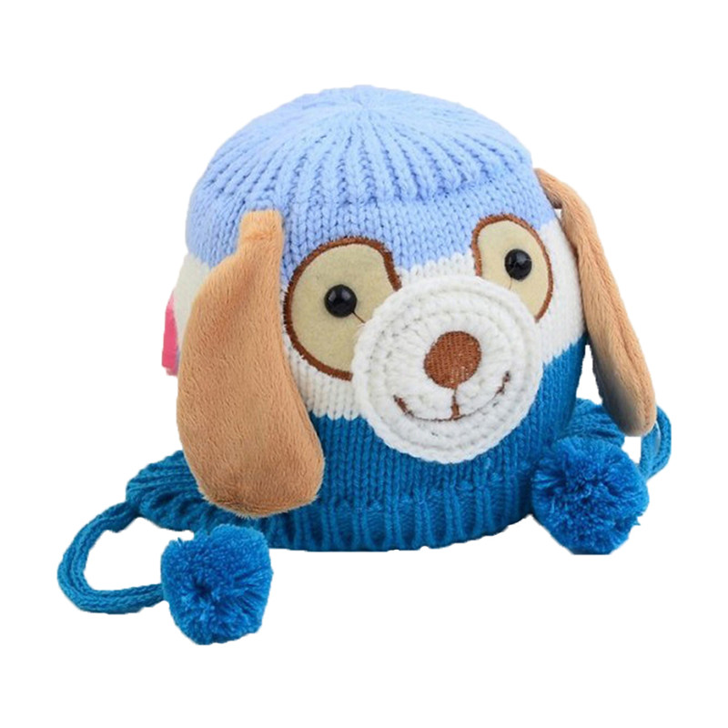 Baby Thickened Hat Winter Autumn Knitted Cap Hair Ball Dog