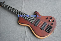 High quality customized version 5 string electric bass maple veneer matte can be customized as required