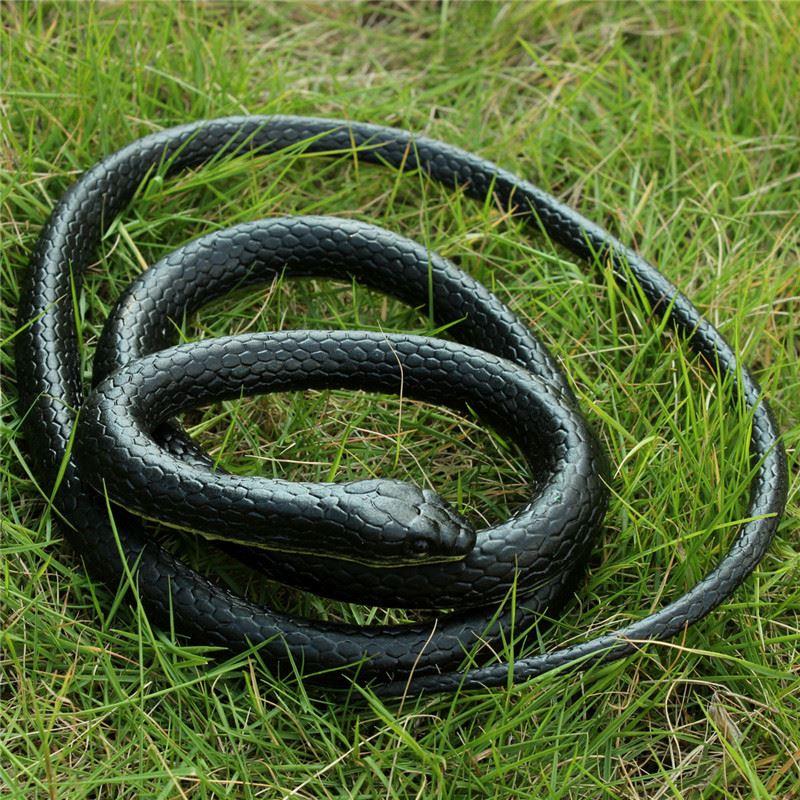 1Pc realistic soft rubber toy snake safari garden prop joke prank halloween~gift